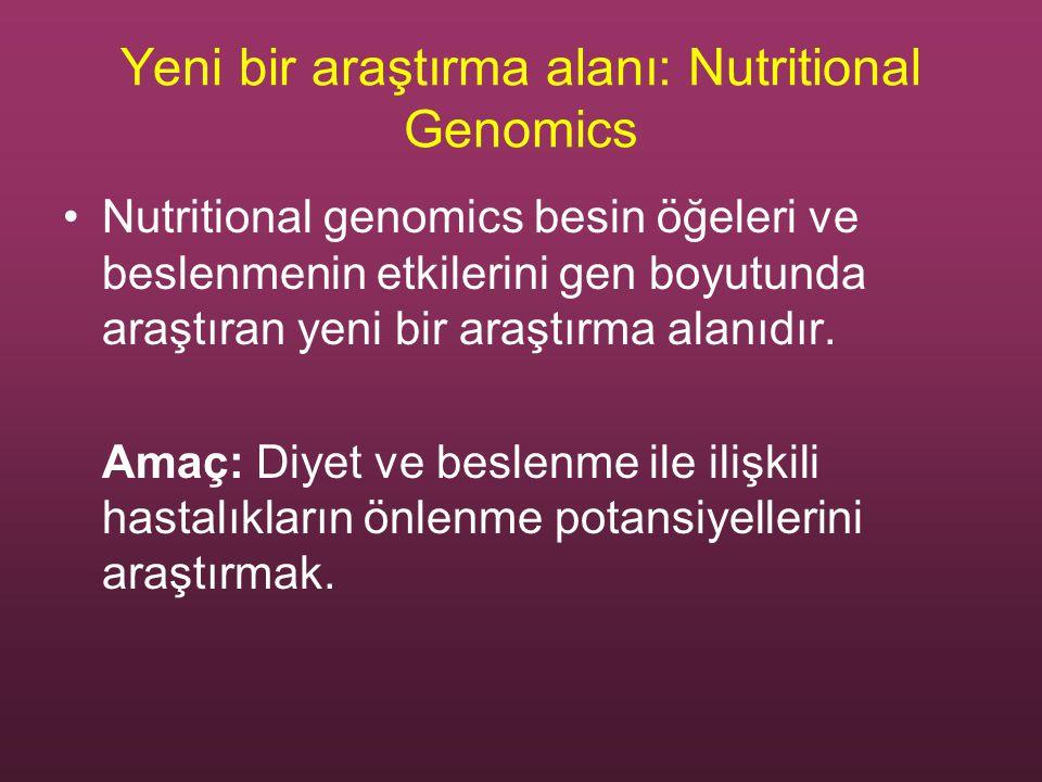 Yeni bir araştırma alanı: Nutritional Genomics