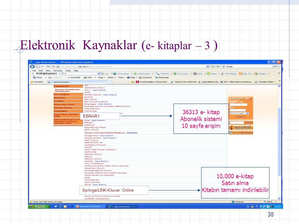 Elektronik Kaynaklar (e- kitaplar – 3 )
