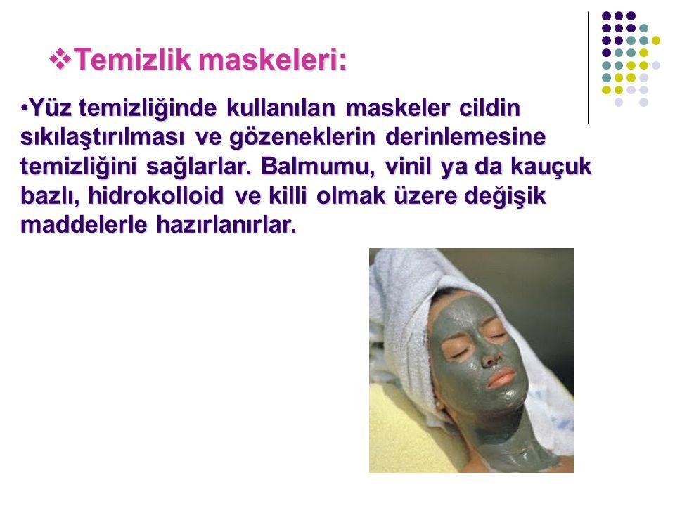 Temizlik maskeleri: