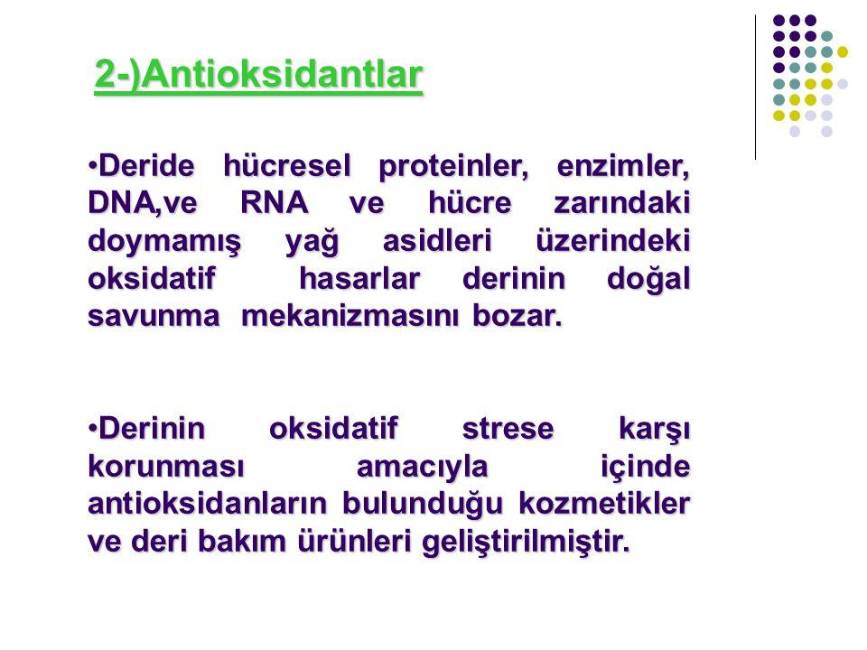2-)Antioksidantlar