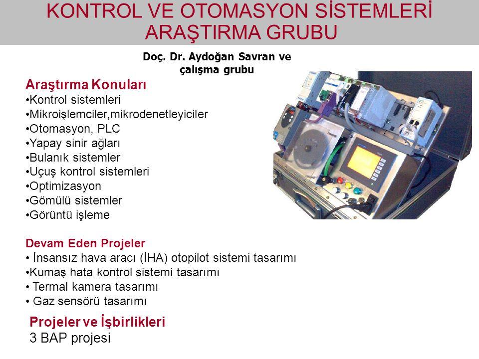 Doç. Dr. Aydoğan Savran ve çalışma grubu