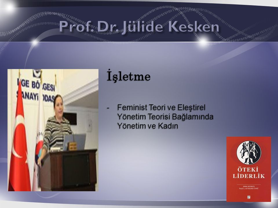 Prof. Dr. Jülide Kesken İşletme