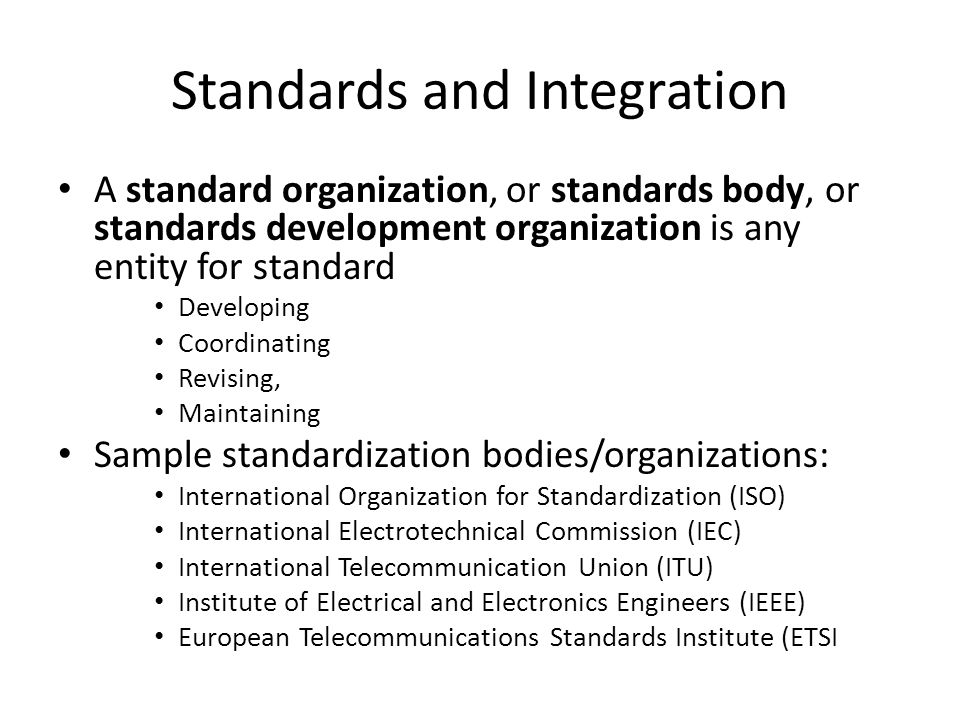 European EN and International ISO standards Essay
