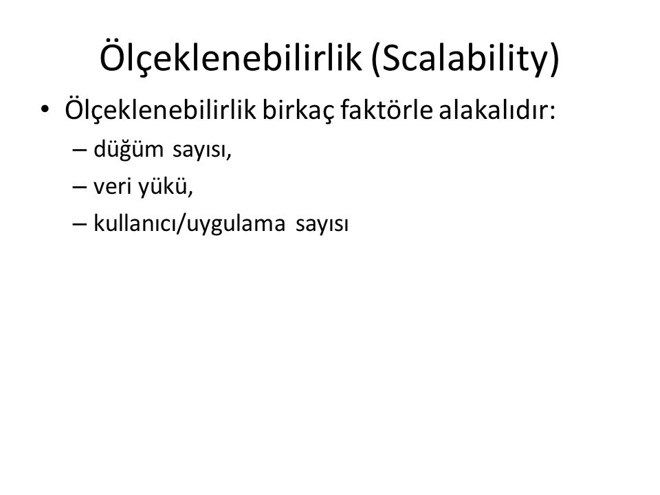 Ölçeklenebilirlik (Scalability)