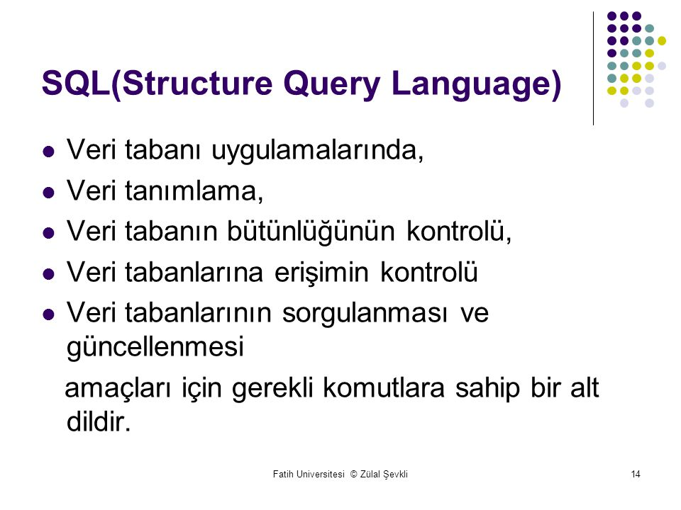SQL(Structure Query Language)