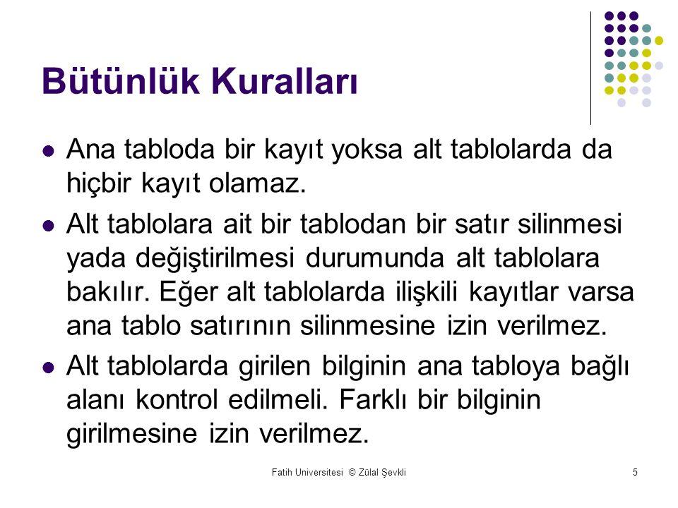 Fatih Universitesi © Zülal Şevkli