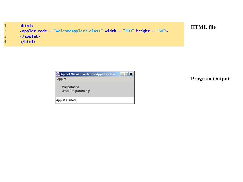 HTML file Program Output