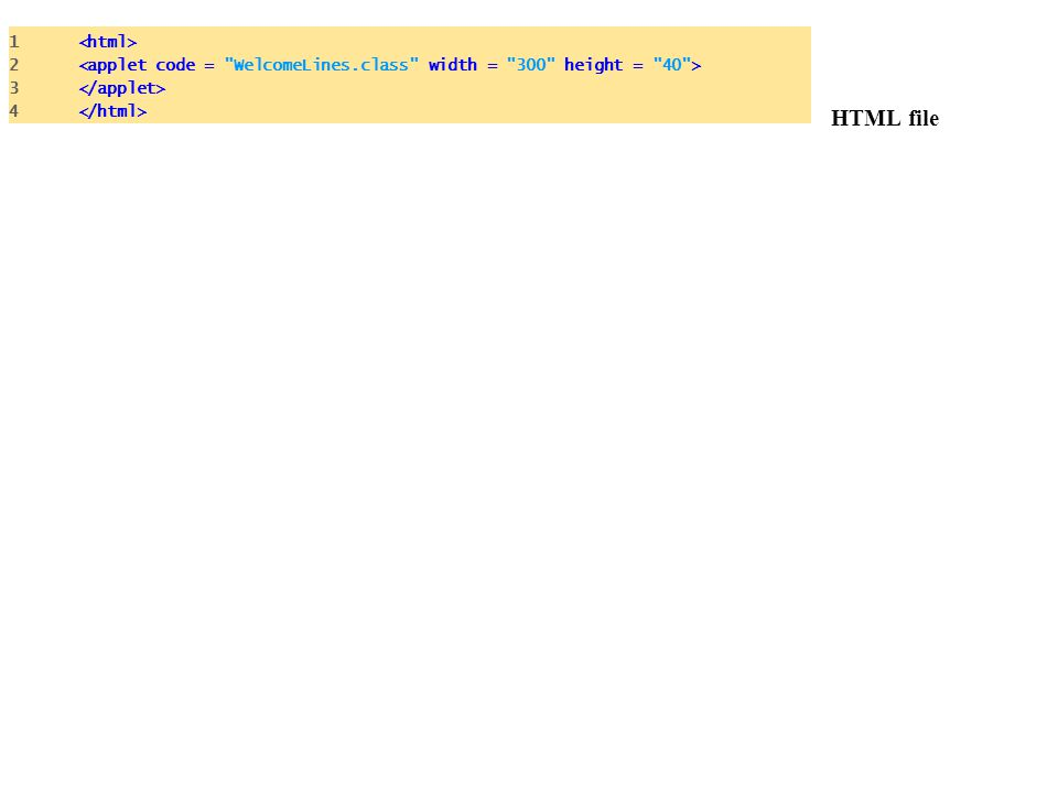 HTML file 1 <html>