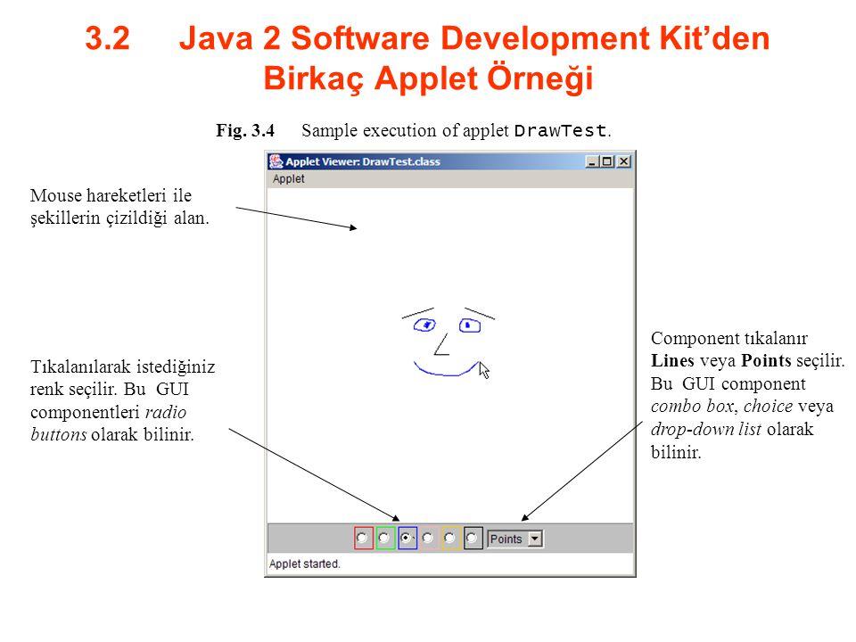3.2 Java 2 Software Development Kit'den Birkaç Applet Örneği