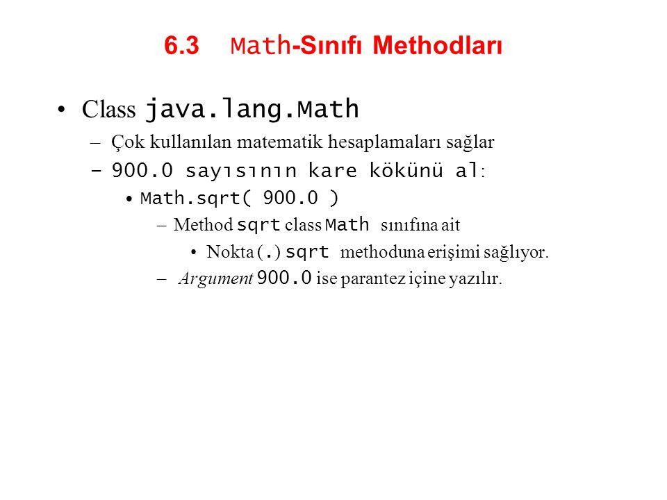 6.3 Math-Sınıfı Methodları