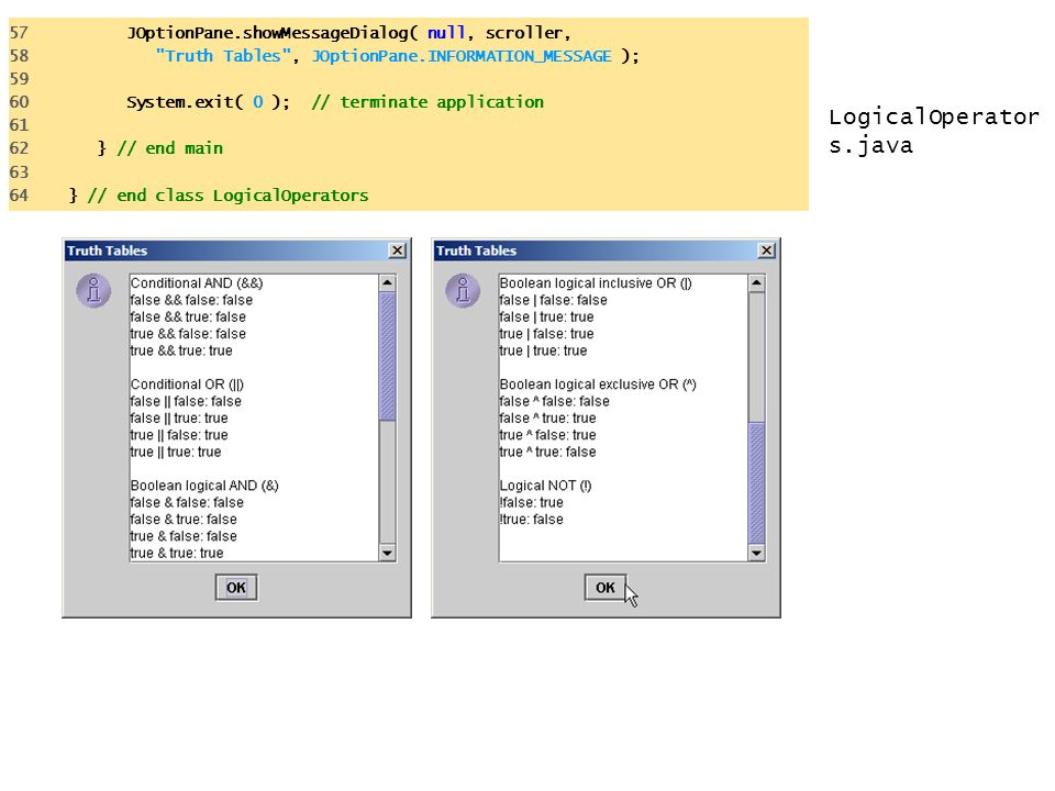 57 JOptionPane.showMessageDialog( null, scroller,