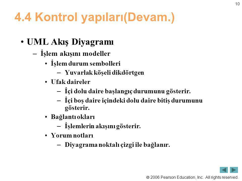 4.4 Kontrol yapıları(Devam.)