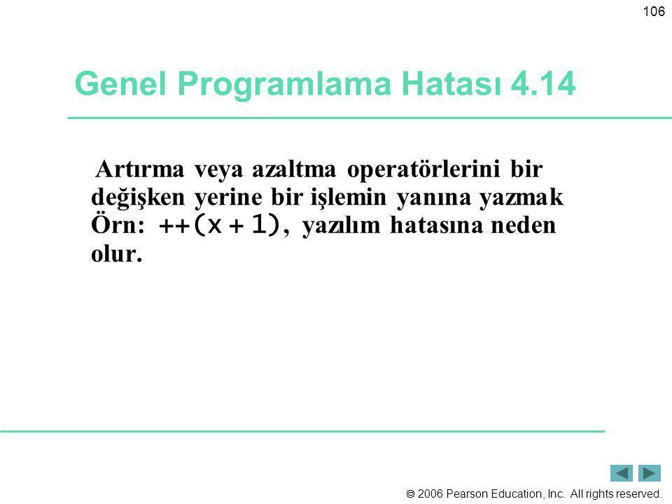 Genel Programlama Hatası 4.14