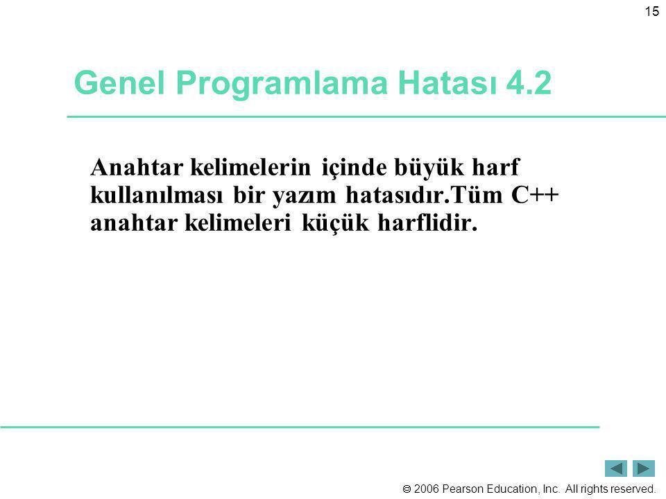 Genel Programlama Hatası 4.2