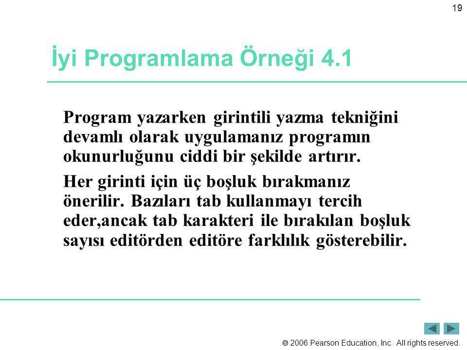 İyi Programlama Örneği 4.1