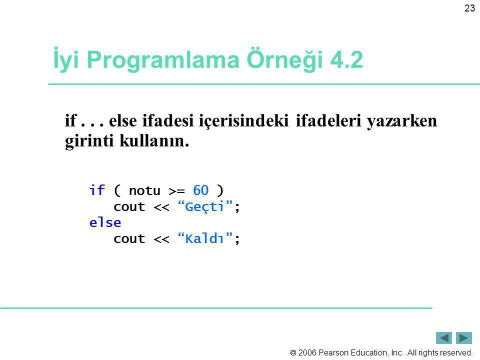 İyi Programlama Örneği 4.2