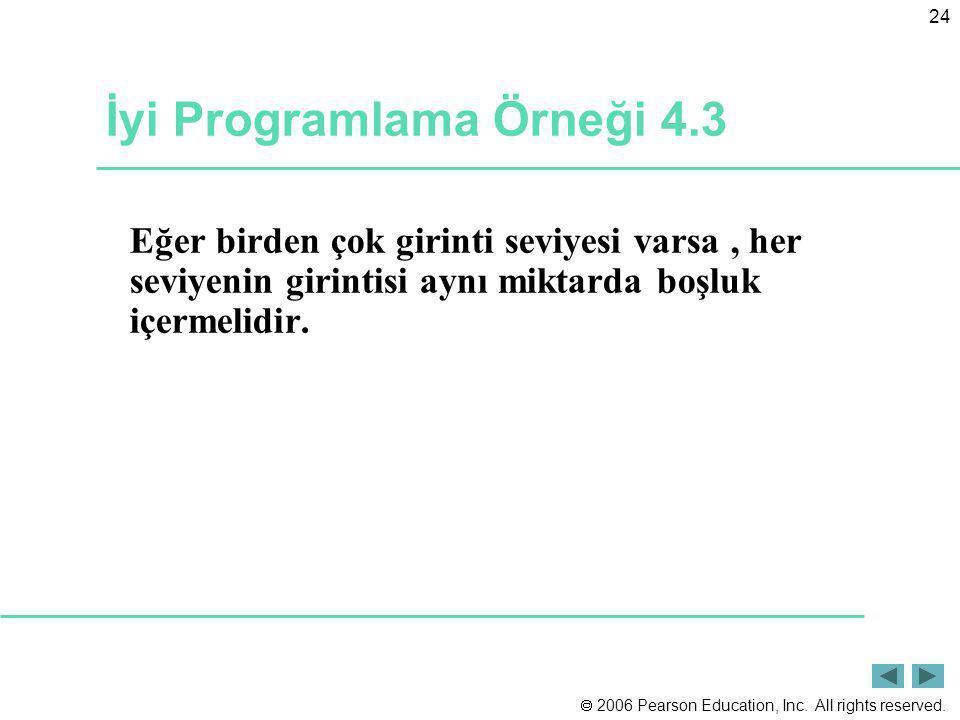 İyi Programlama Örneği 4.3