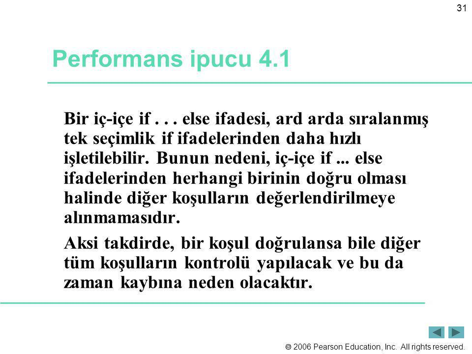 Performans ipucu 4.1
