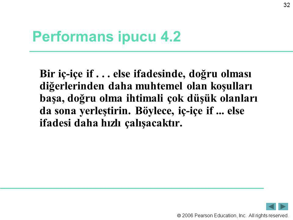 Performans ipucu 4.2