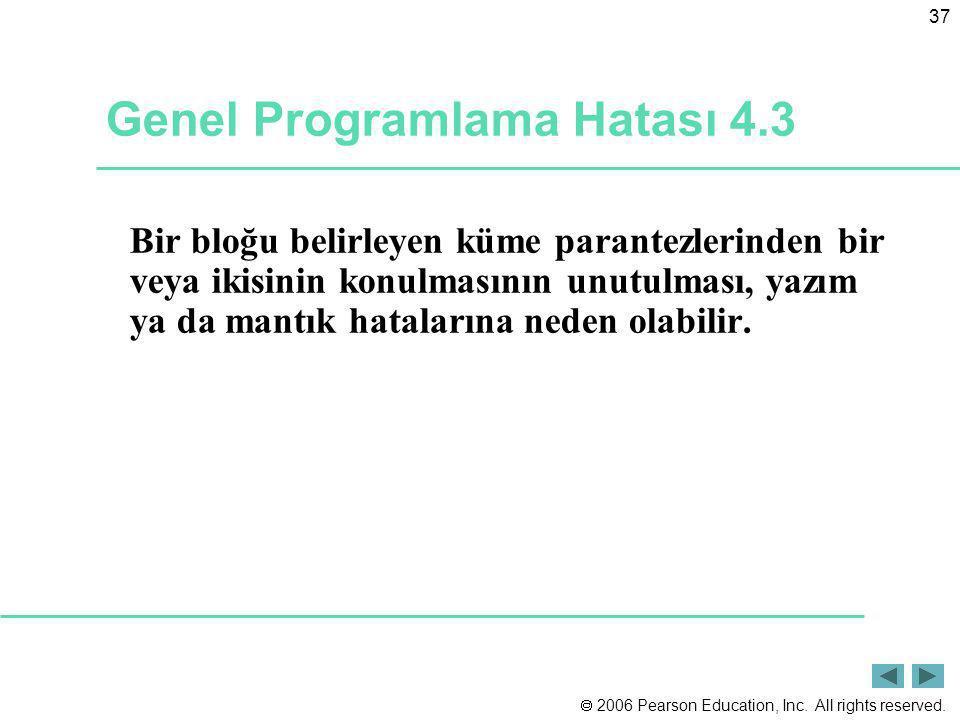 Genel Programlama Hatası 4.3