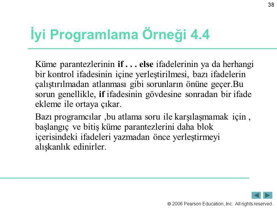 İyi Programlama Örneği 4.4