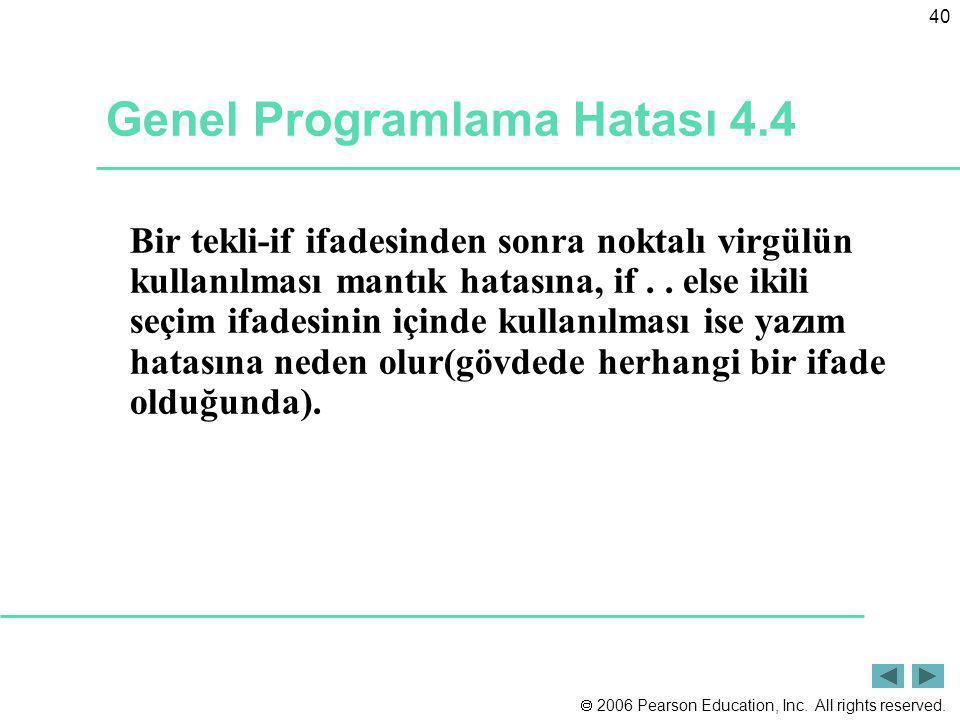 Genel Programlama Hatası 4.4