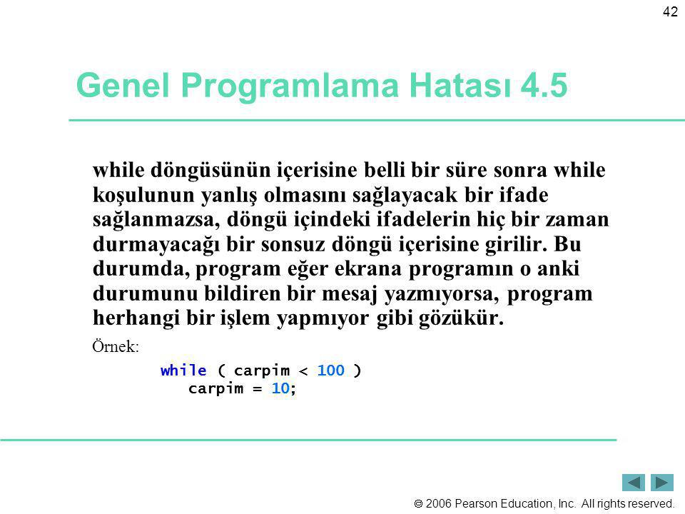 Genel Programlama Hatası 4.5