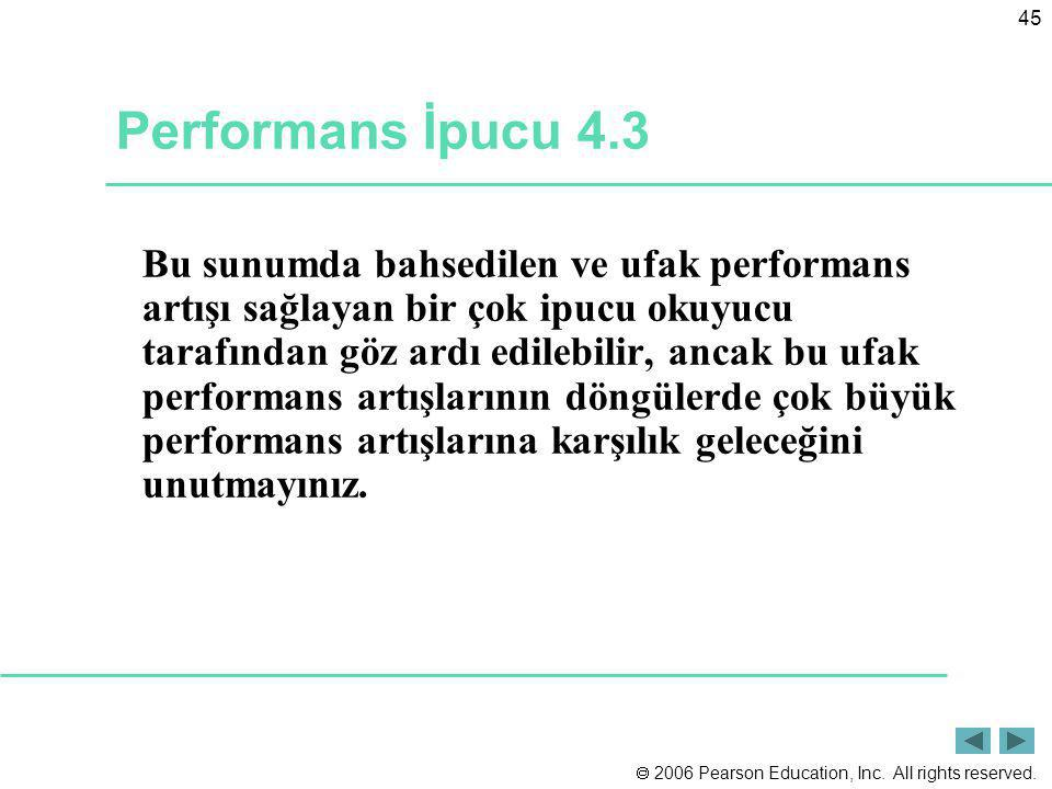 Performans İpucu 4.3