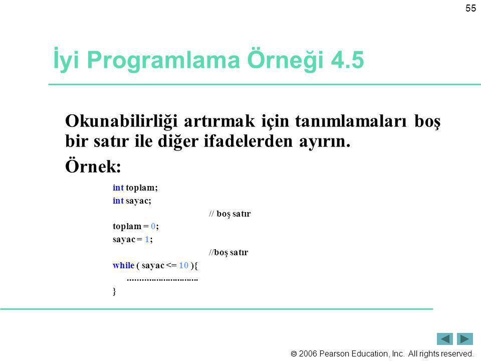 İyi Programlama Örneği 4.5