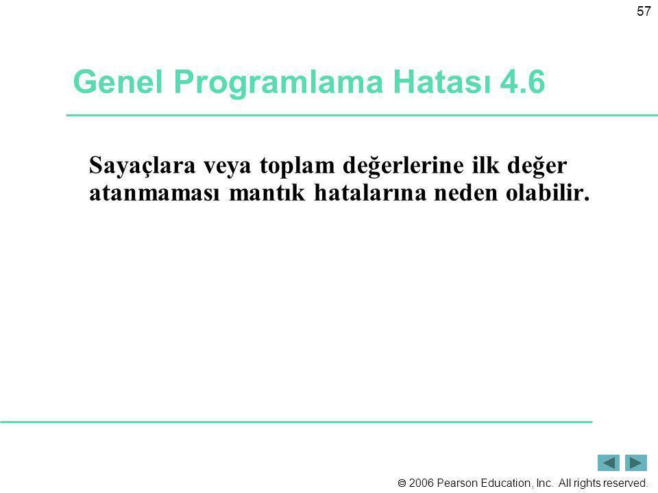 Genel Programlama Hatası 4.6