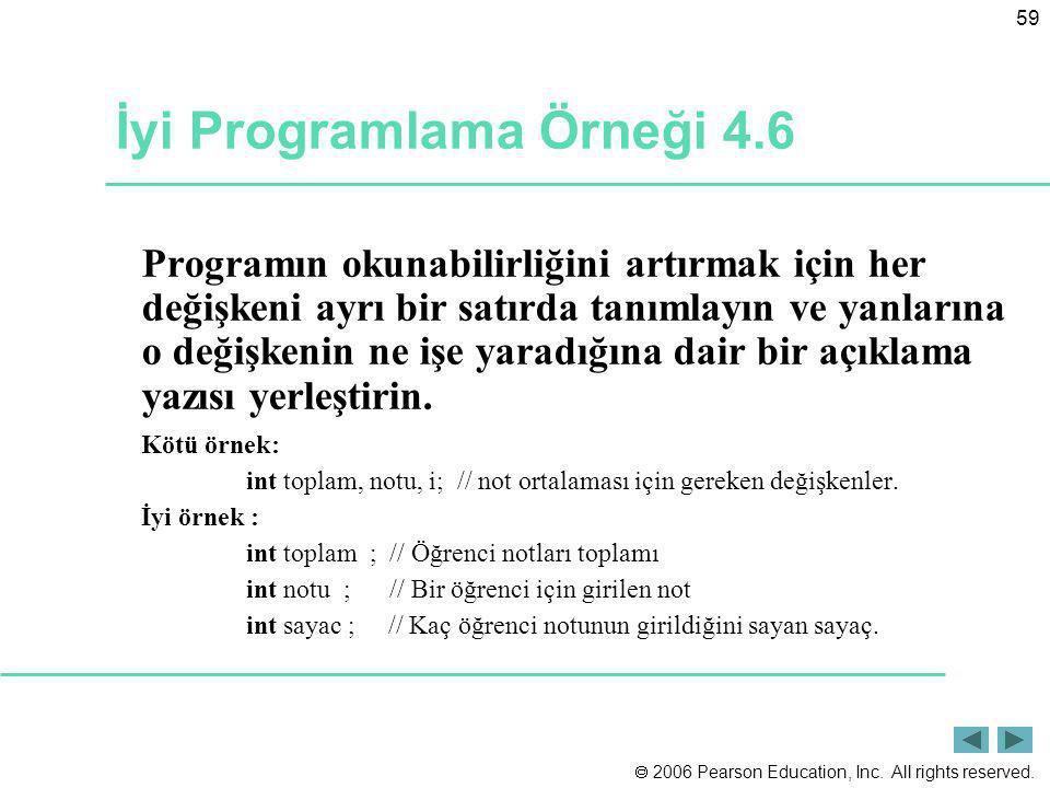 İyi Programlama Örneği 4.6