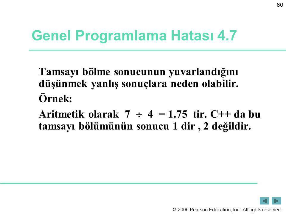 Genel Programlama Hatası 4.7