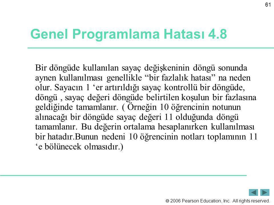Genel Programlama Hatası 4.8