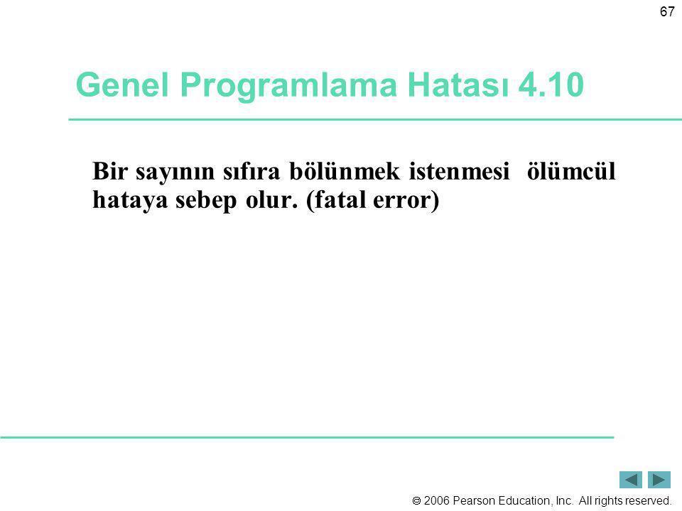 Genel Programlama Hatası 4.10
