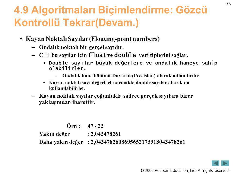 4.9 Algoritmaları Biçimlendirme: Gözcü Kontrollü Tekrar(Devam.)