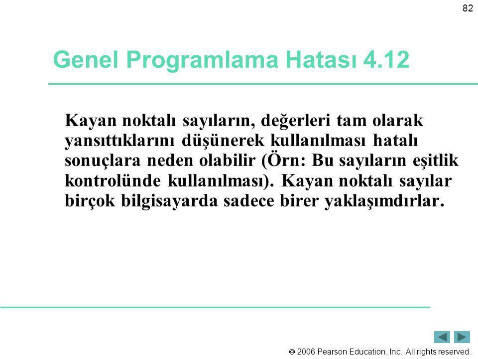 Genel Programlama Hatası 4.12