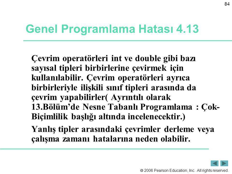 Genel Programlama Hatası 4.13