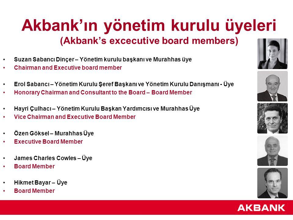 Akbank'ın yönetim kurulu üyeleri (Akbank's excecutive board members)