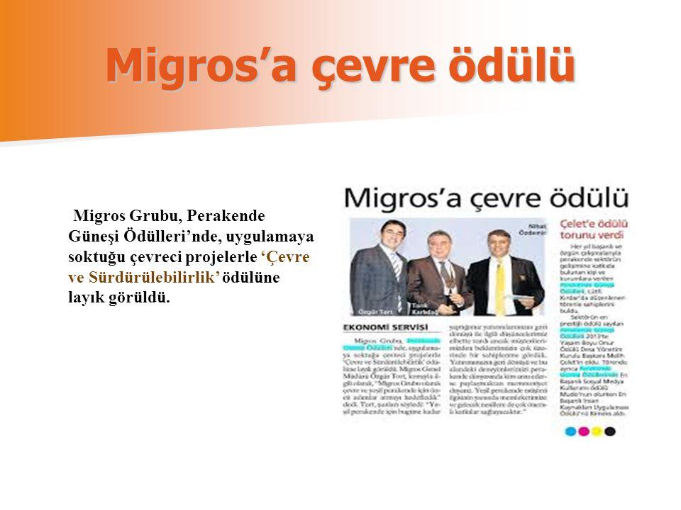 Migros'a çevre ödülü