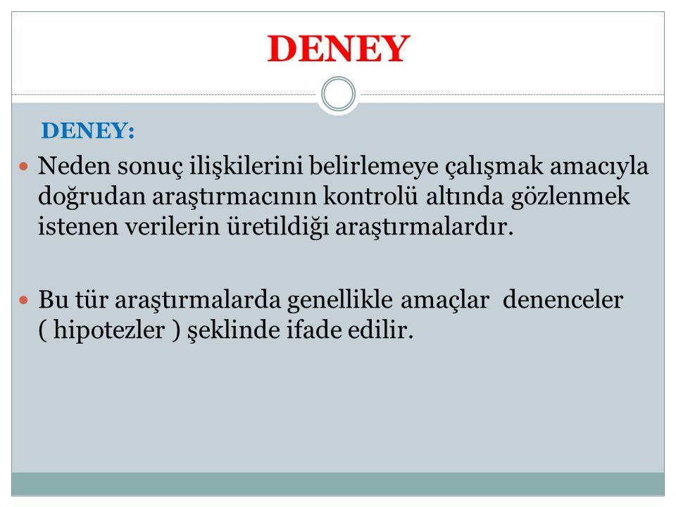 DENEY DENEY: