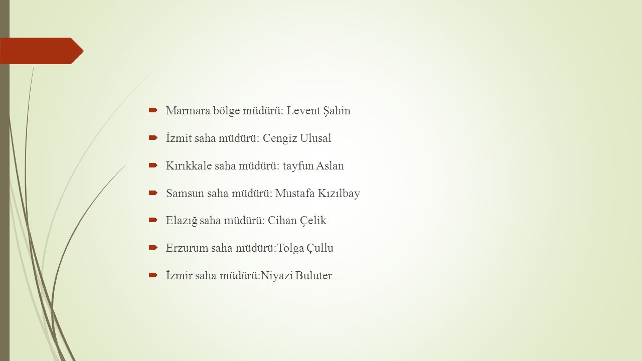 Marmara bölge müdürü: Levent Şahin