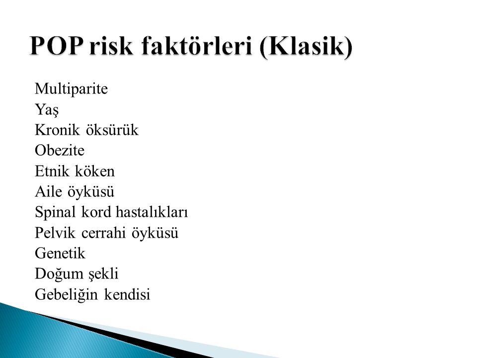 POP risk faktörleri (Klasik)