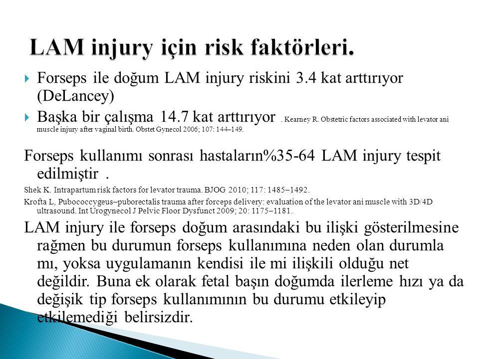 LAM injury için risk faktörleri.