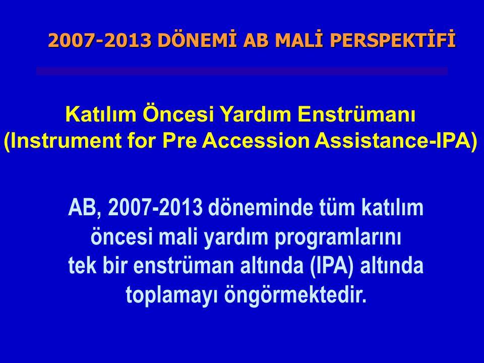 AB, 2007-2013 döneminde tüm katılım öncesi mali yardım programlarını