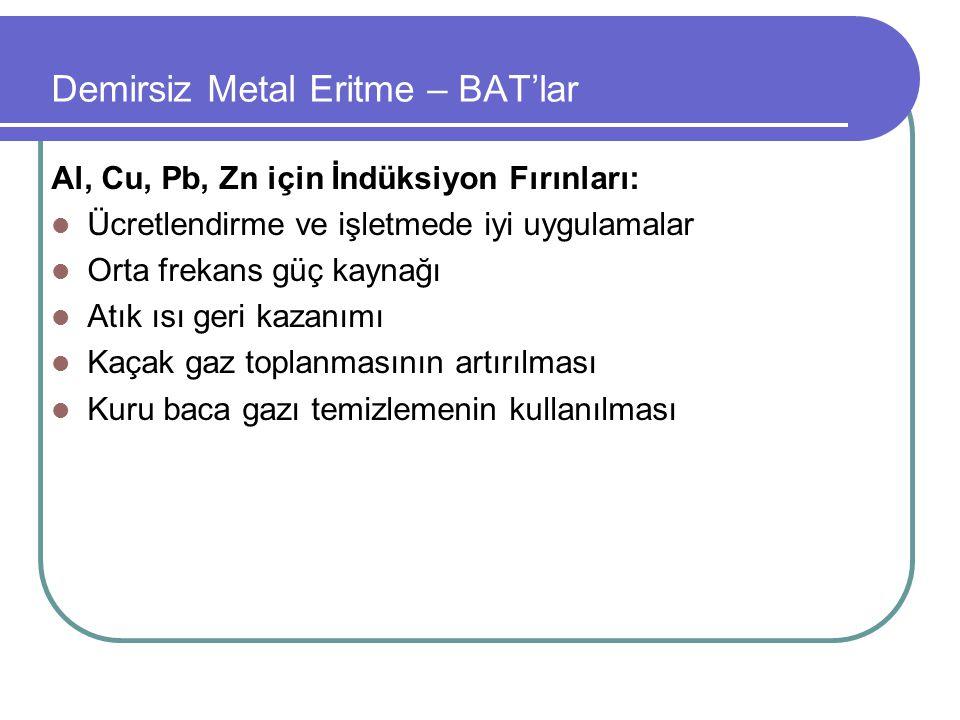 Demirsiz Metal Eritme – BAT'lar