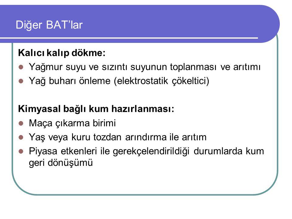 Diğer BAT'lar Kalıcı kalıp dökme: