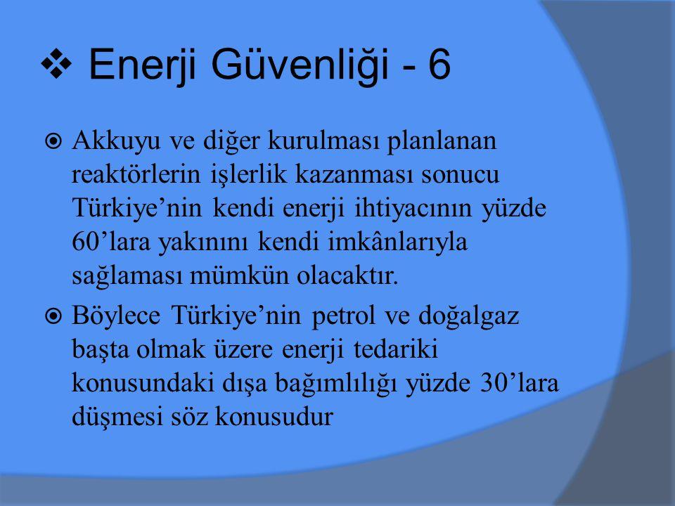 Enerji Güvenliği - 6
