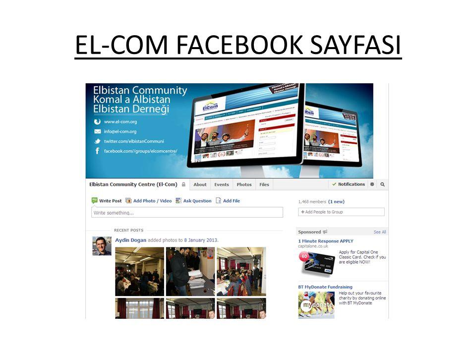 EL-COM FACEBOOK SAYFASI