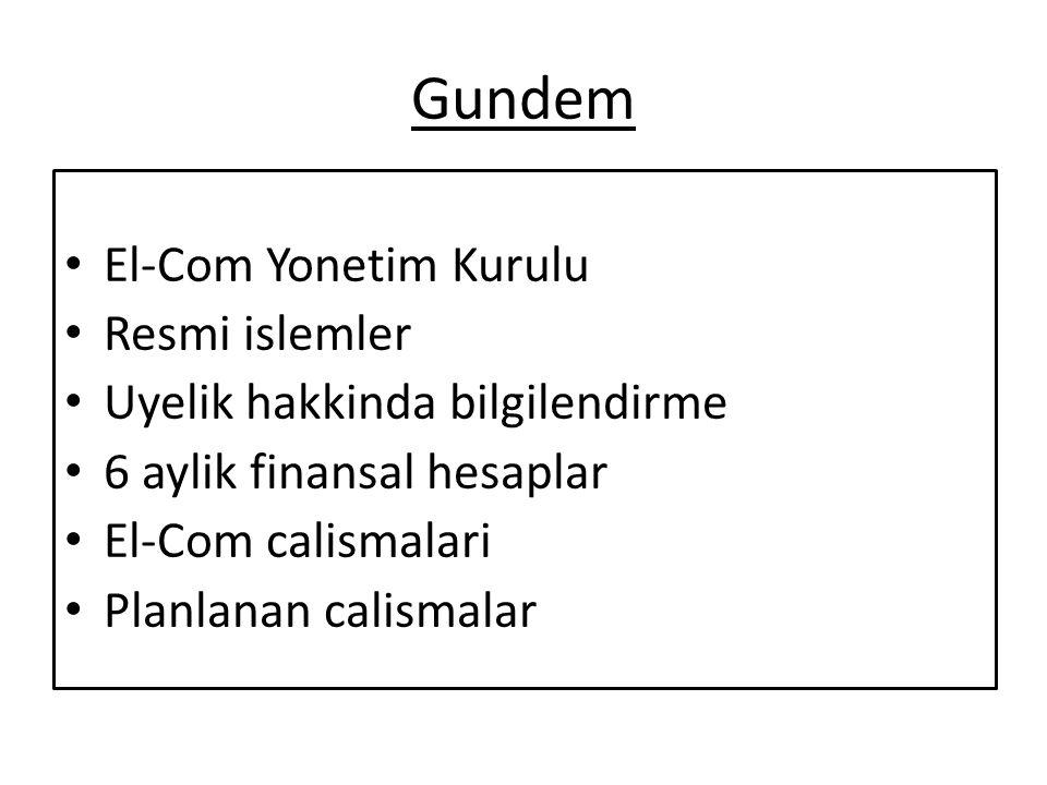Gundem El-Com Yonetim Kurulu Resmi islemler