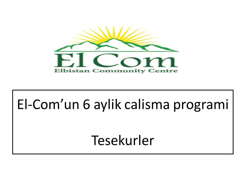 El-Com'un 6 aylik calisma programi Tesekurler